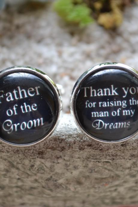 Father of the Groom Gift -Men cufflinks Tie Clip set - wedding cuff links - fathers day - gifts for dad - gift ideas for Dads