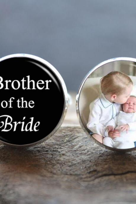 Brother of the Bride Cufflinks -Custom Photo Cufflinks - Personalized Photo Men cufflinks - Wedding Cuff Links -Gift for Brother